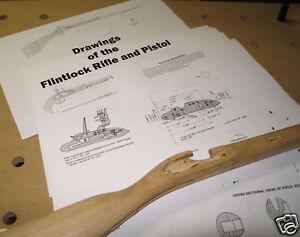 Build a Flintlock Rifle, Pistol Full Plans, Blueprints!!
