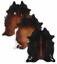 LG/XL Brazilian Tornasol cowhide rugs Measures approximately 42.5-50 square feet