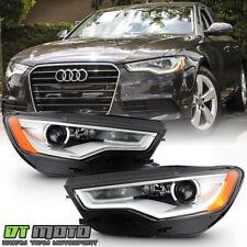 2012-2015 Audi A6 S6 Hid/Xenon w/o Afs Led Drl Projector Headlights Headlamps (Fits: Audi)