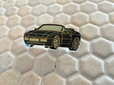 PORSCHE 944 S2 CABRIOLET IN BLACK OFFICIAL LAPEL PIN 1990-1992