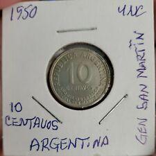 1950 Argentina 10 Centavos José San MARTIN UNCIRCULATED!!!!!