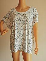 CECIL Tolles Damen Shirt Sommer Gemustert T-Shirt Gr. XXL Weiß #LRS1978