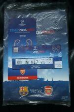 BARCELLONA V Arsenal 2006 CHAMPIONS LEAGUE FINALE programma/supplemento e biglietto