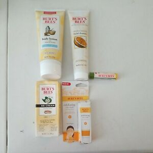 Lot of BURT'S BEES Beauty products Body Lotion BB Cream Lip Balm Facial Cleanser