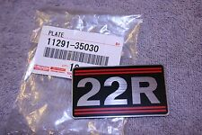 22R Engine Name Plate - Celica Corona Pickup 4Runner - Genuine Toyota Part