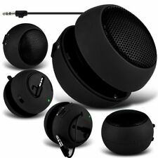 Black Portable Capsule Rechargeable Compact Speaker For Acer Liquid Jade