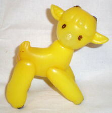 Vintage Russian Soviet Toy Ussr Hard Plastic Yellow Calf 1970 Cow Kid Goat Rare