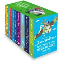 NEW World of David Walliams Terrific Ten Collection 10 Books Kids Gift Box Set!