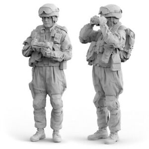 1/35 Russia Modern Soldier Resin Kits Unpainted Set of 2 Figures Model GK