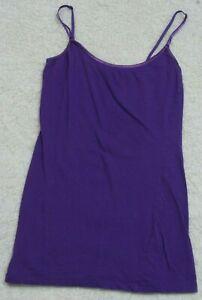 Tank Top Tee T-Shirt Sleeveless Crewneck Bozzolo Purple Solid Cotton Spandex