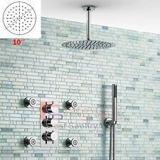 "10"" Rainfall Shower Head &Thermostatic mixer valve+4PCS Massage body Jets Set"