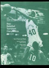 Michigan High School Basketball Championship Program 1987