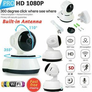 1080P HD Wireless WIFI IP CCTV Camera Smart Home Security Indoor Night Vision IR