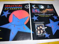 INDOCHINE - Publicité de magazine / Advert !!! ZENITH + 3EME SEXE + LIVRE !!!
