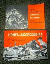 "LIONEL 1960 ""HOW TO OPERATE LIONEL TRAINS"" + 1953 LIPONEL ACCESSORIES CATALOG."