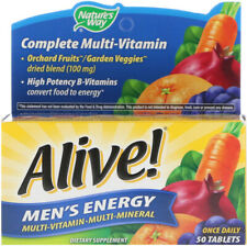Alive Men's Energy Multi-Vitamin with High Potency B-Complex | 50 Tablets