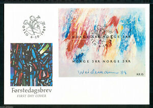 """Norway - """"ART ~ PAINTINGS ~ J WEIDEMANN"""" First Day Cover FDC 1989 !"""