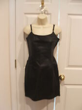 New in pkg styleworks  black leather straps/strapless  dress size  6