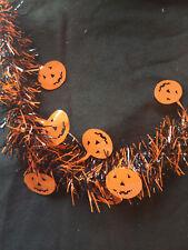 Halloween Tinsel Garland - Foil bat skull attachments - Choose Colours FREE P&P