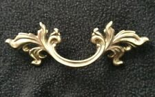 "1 Vtg French Provincial Drawer Pulls 3"" Bore Keeler Brass Company N4576"