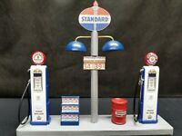 """ STANDARD "" GAS PUMP ISLAND DISPLAY W/GAS PRICE SIGN, 1:18TH, HAND CRAFTED, NEW"