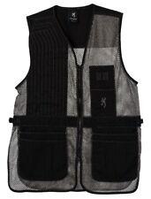 Browning Team Trapper Creek Mesh Shooting Vest Blk Gray Men's Medium 3050269902