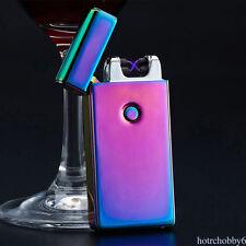 Double Arc Light USB Electronic Rechargeable Cigarette Lighter 5 Colors*1PC HY1