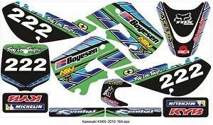 KAWASAKI KX65 2010 - 2018 GRAPHIC DECALS Vinyl A Motocross MX decals stickers
