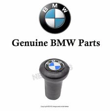 For BMW E9 E10 E12 E24 Shift Knob Leather with For BMW Logo Round Style Genuine