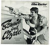 Filmprogramm MFK Nr. 229 BONNIE UND CLYDE Warren BeattyI  12 Seiten
