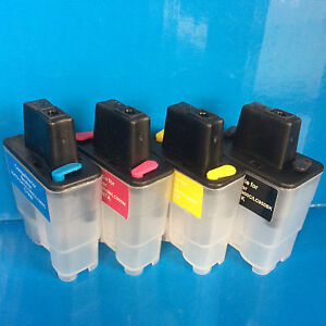 SET REFILLABLE EMPTY INK CARTRIDGES BROTHER LC900 FAX 1835C 1840C 1940CN NON OEM