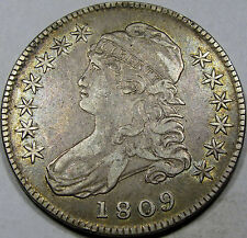 1809 O-102 Capped Bust Half Dollar Choice EF-AU... So Nice and Original, Superb!