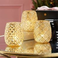 Let It Glow Mercury Glass Tealight Candle Holder - Design Varies