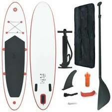vidaXL Opblaasbaar Stand Up Paddle Board + Accessoires Rood/Wit SUPboard SUP