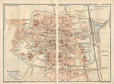 Carta geografica antica RAVENNA Pianta della città 1916 Old antique map