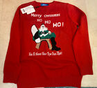 New! Boy's Size XL (18-20) Ugly Christmas Sweater You'll Shoot Your Eye Out Kid