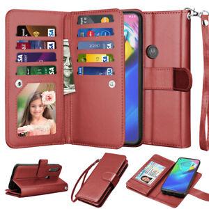 For Motorola Moto G stylus / G Power 2020 Leather Card Holder Wallet Case Cover