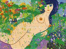 """Walasse Ting """"he Amor por ti' 1974-Fine Art Print, Picasso, Japón Arte,"""