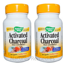Nature's Way Activated Charcoal 560 mg 200 Capsules
