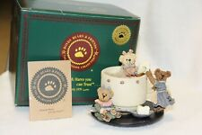 "Boyds Bears Bearstone ""Prissie, Sissie, & Missie.' Tea for Three"" #02000-71-New"