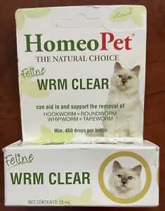 HomeoPet Feline Wrm Clear 15ml