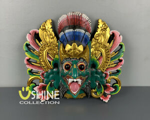 Exclusive Vintage Green,Wall Mask,Antique Mask,Balinese Barong Mask,Home Decor