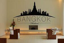 Wall Vinyl Sticker Decal Skyline Horizon Panorama City Bangkok Thailand F1757