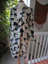 Miss Selfridge Black Flower Open Waterfall Cardigan New Size 8.
