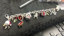 Brighton Limited Edition Christmas Charms 8 inch Bracelet with 1 inch Extension