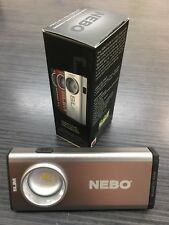 Nebo Slim C.O.B LED 500 Lumens Rechargeable Torch ~ Work / Flash Light ~ SILVER.