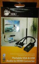 SIIG PORTABLE VGA and USB AUDIO TO HDMI CONVERTER
