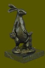 Art Deco Miniature Brass Bronze Easter Bunny Rabbit Hare Figurines Austria Gift