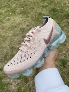 NEW Women's Nike Air Vapormax Flyknit 2 Particle Beige Shoes 942843-203 Size 6