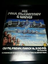 Paul McCartney and Wings Rare 1979 CBS Television Special Promo Poster Ad !